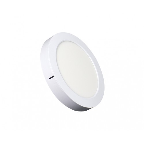 ROUND LED PANEL 2-in-1 18W ABS RECESSED AND CEILING 6.500K