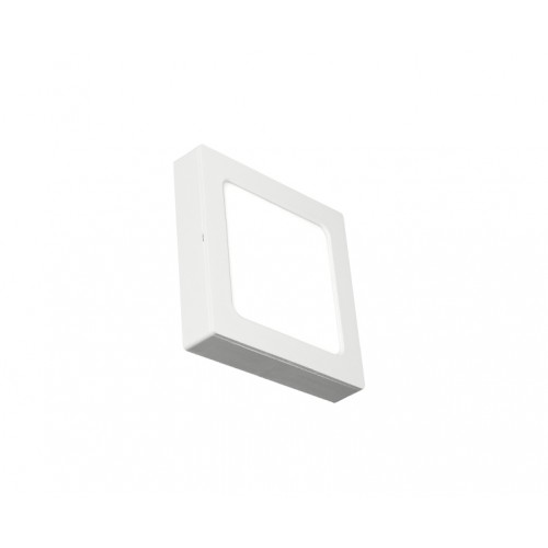 SQUARE LED PANEL 12W ABS RECESSED AND CEILING 6.500K