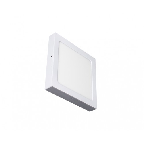 SQUARE LED PANEL 18W ABS RECESSED AND CEILING 6.500K