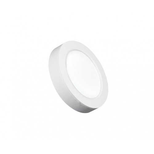 ROUND LED PANEL 2-in-1 12W ABS RECESSED AND CEILING 3.000K