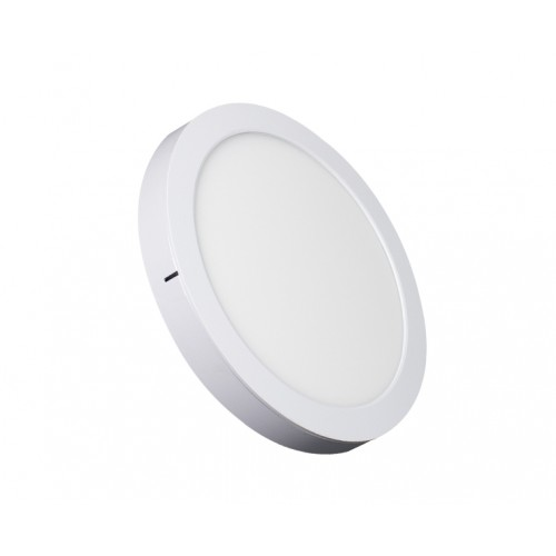 ROUND LED PANEL 24W ABS RECESSED AND CEILING 3.000K