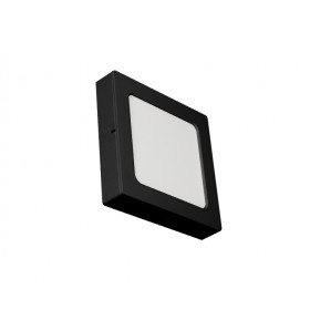 SQUARE LED PANEL 18W ABS RECESSED AND CEILING BLACK
