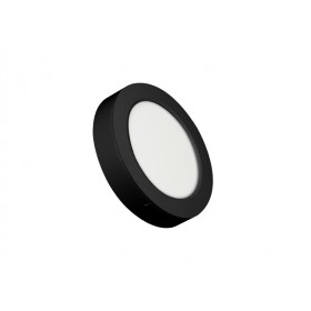 ROUND LED PANEL 12W ABS RECESSED AND CEILING BLACK