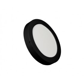 ROUND LED PANEL 18W ABS RECESSED AND CEILING BLACK