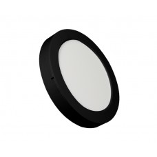 ROUND LED PANEL 24W ABS RECESSED AND CEILING BLACK