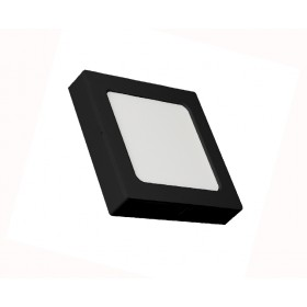SQUARE LED PANEL 12W ABS RECESSED AND CEILING BLACK