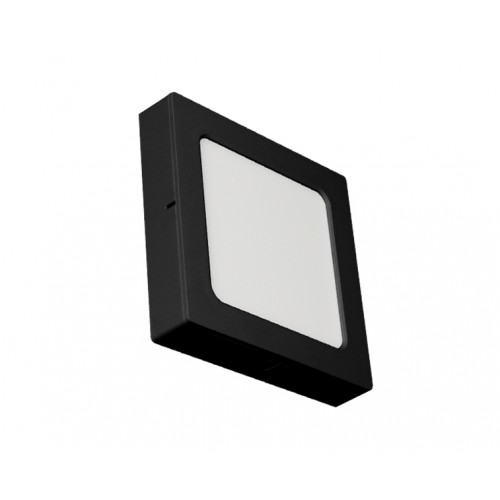 SQUARE LED PANEL 2-IN-1 24W ABS RECESSED AND CEILING BLACK