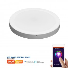 SMART ROUND LED PANEL 2-IN-1 12W ABS RECESSED AND CEILING