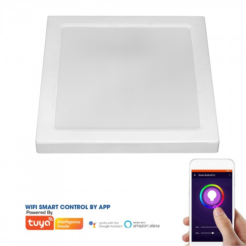 SMART SQUARE LED PANEL 2-IN-1 12W ABS RECESSED AND CEILING